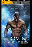 Storming for His Omega: A Non-shifter Superhero Alpha/Omega Mpreg Romance (The Elemental Omegas Book 2)