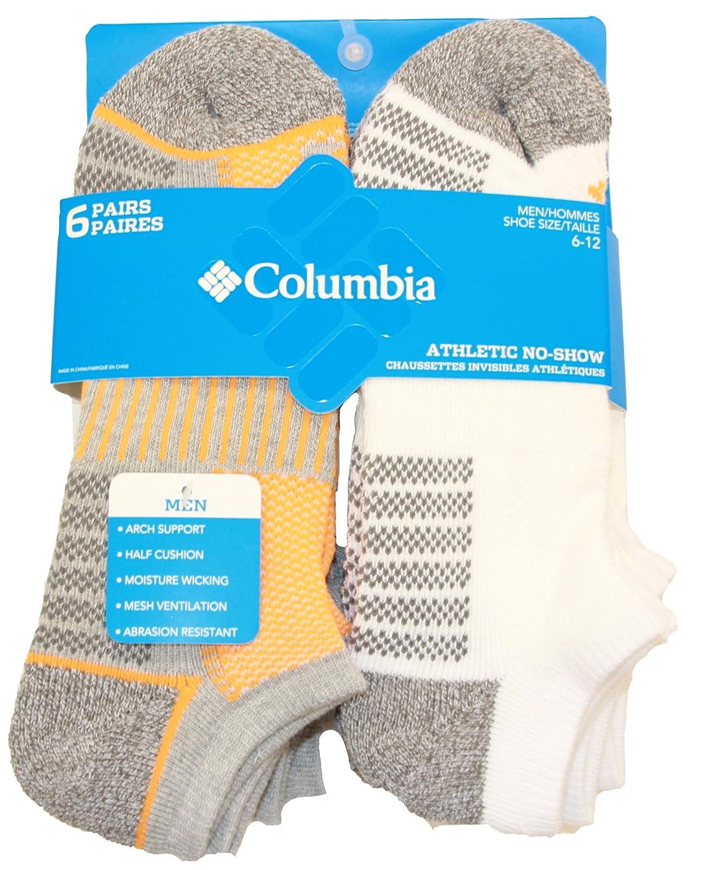 Columbia Mens 6-Pack Pique Foot Athletic Socks