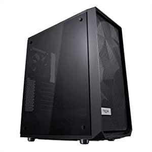 Fractal Design Meshify C - Compact Computer Case - High Performance Airflow/Cooling - 2X Fans Included - PSU Shroud - Modular Interior - Water-Cooling Ready - USB3.0 - Tempered Glass - Blackout
