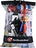 GetReadyNow 2+ Person Deluxe Car Emergency Kit | High-Quality Earthquake & Disaster Survival Supplies | Compact, Convenient Design | Waterproof Dry Bag with Light, First Aid, Emergency Essentials