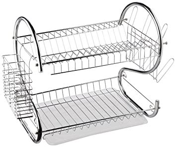 Amazon.com Better Chef DR-16 16-Inch Chrome Plated S-Shaped Rust-Resistant 2-Tier Dishrack Home u0026 Kitchen  sc 1 st  Amazon.com & Amazon.com: Better Chef DR-16 16-Inch Chrome Plated S-Shaped ...
