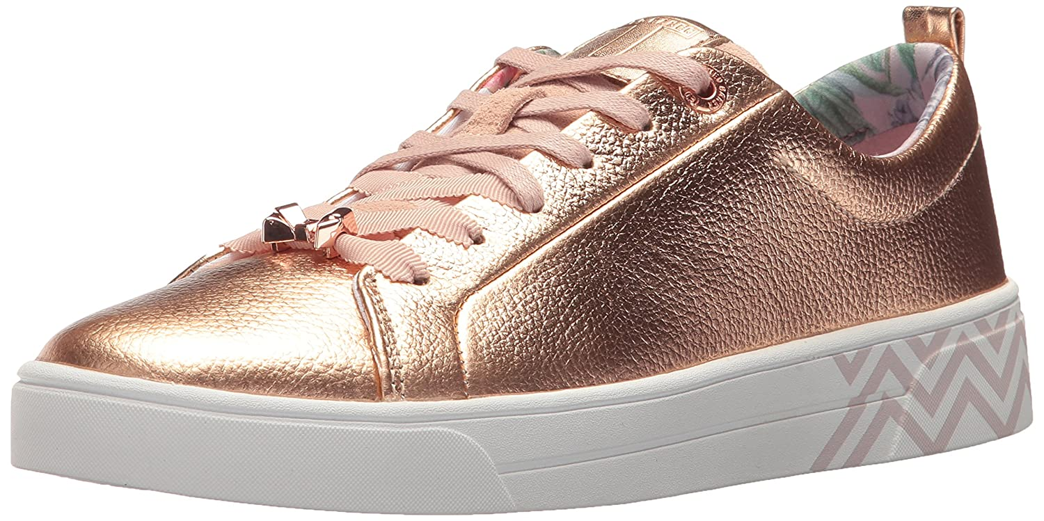 Ted Baker Women's Kellei Sneaker, Light Blue B074PVRXTC 9 B(M) US|Rose Gold/Palace Gardens