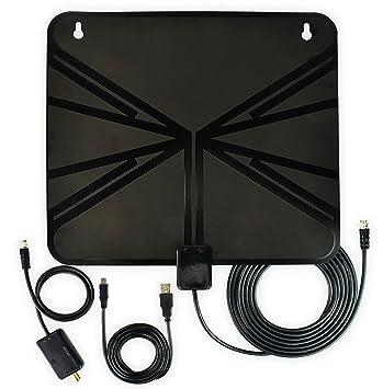 Antena HDTV amplificada de 50 millas, con Amplificador Desmontable Amplificador de Señal para el Mejor