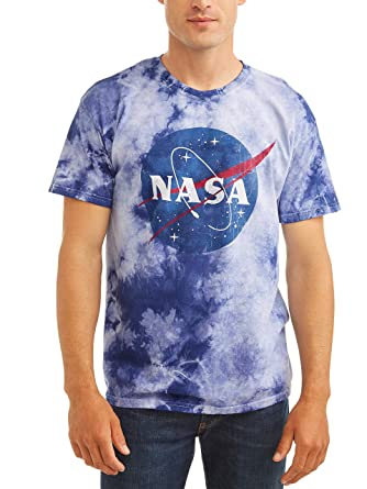 9332525b Retro Wear NASA Space Men's Meatball Logo Tie Dye T-Shirt Tee (Small)