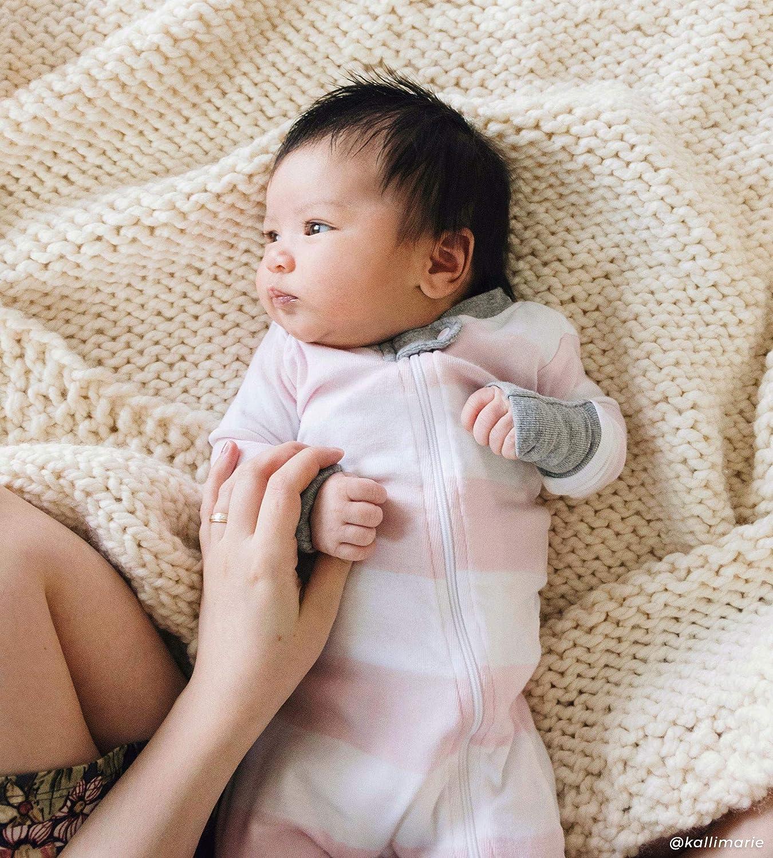 Zip Front Non-Slip Footed Sleeper PJs Burts Bees Baby Baby Girls Sleeper Pajamas 100/% Organic Cotton