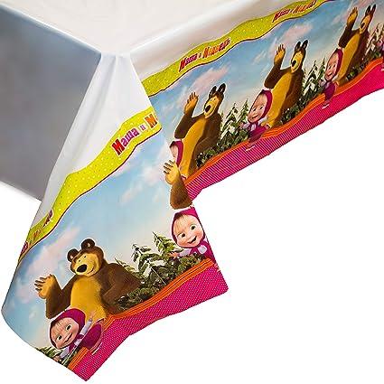 Amazon.com: Mantel brillante Masha y el oso para fiestas de ...