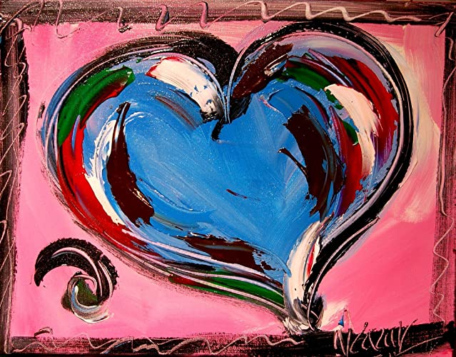 Amazon Com Pop Art Fine Art Original Paintings Blue Heart
