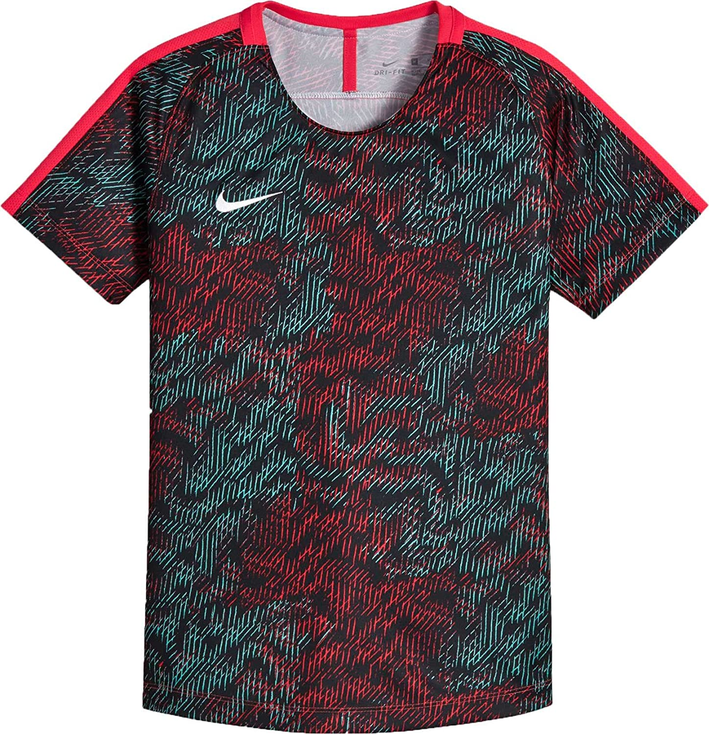 Nike Girls ' Dry AcademyサッカーTシャツ B0798JWBH9 X-Small|Sirenred/Sirenred/White Sirenred/Sirenred/White X-Small