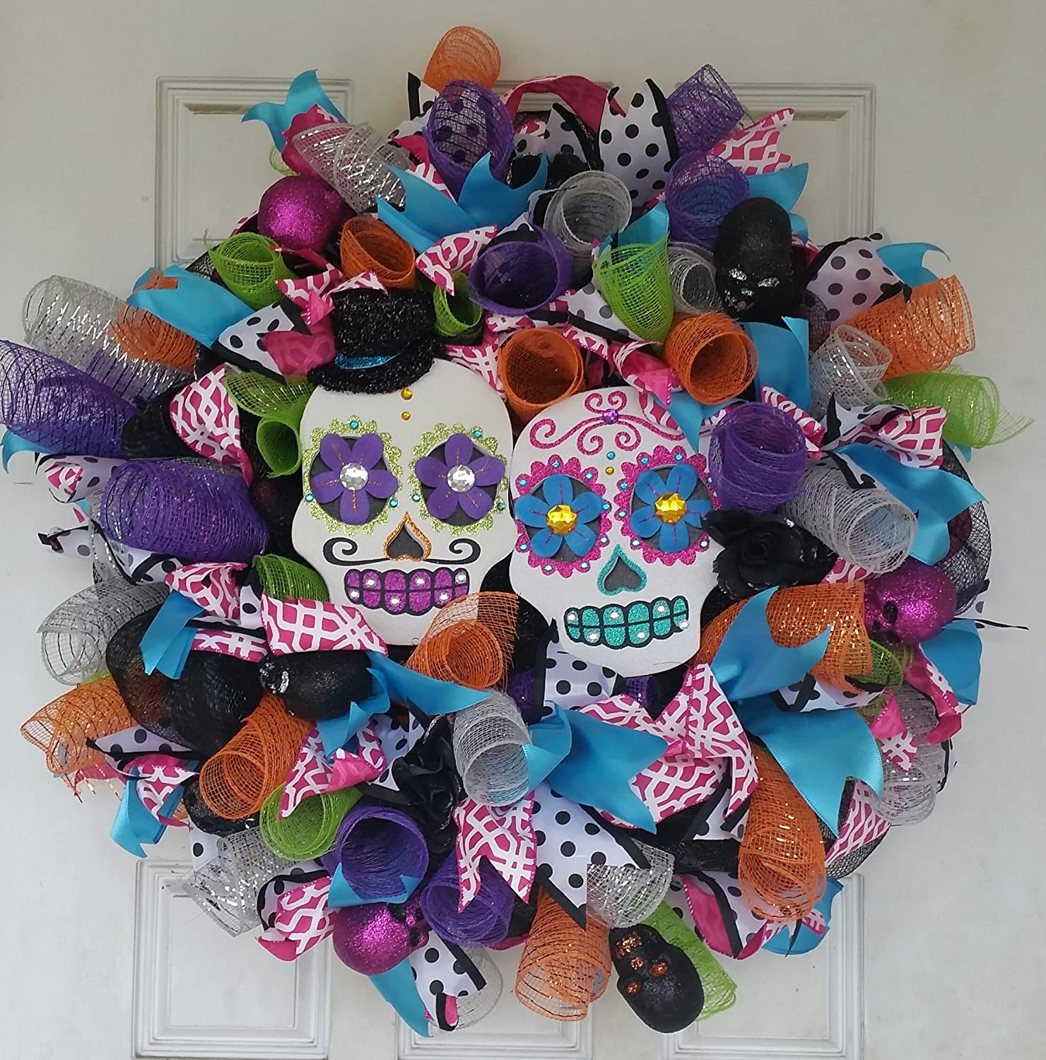 """Huge 28"""" Fluffy and Full Day of the Dead Double Sugar ..."""