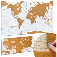 Scratch Off Map of The World Poster - Travel Gift + BONUS USA Scratch Map - Maps International - 50 Years of Map Making…