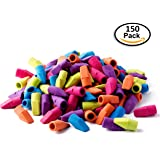 Set of 150 - Pencil Top Eraser Caps ,for Kids, Bulk, Assorted Colors