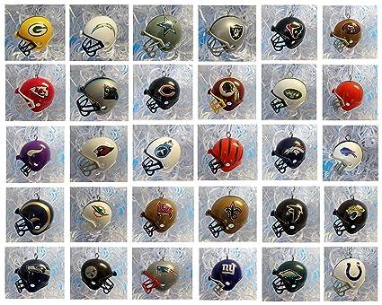 nfl football ornament set of 32 mini helmet christmas ornaments nfl football team helmet ornament