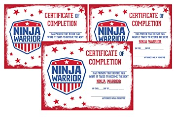 image relating to Warriors Printable Schedule known as Ninja Warrior Themed Get together Shipping Package deal Package Fixed (Certification Mounted of 12)