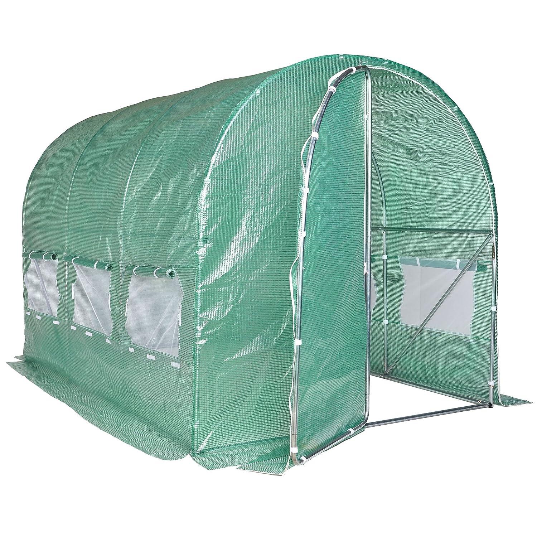 Vonhaus Polytunnel Greenhouse 3m X 2m Walk In Pollytunnel Tent