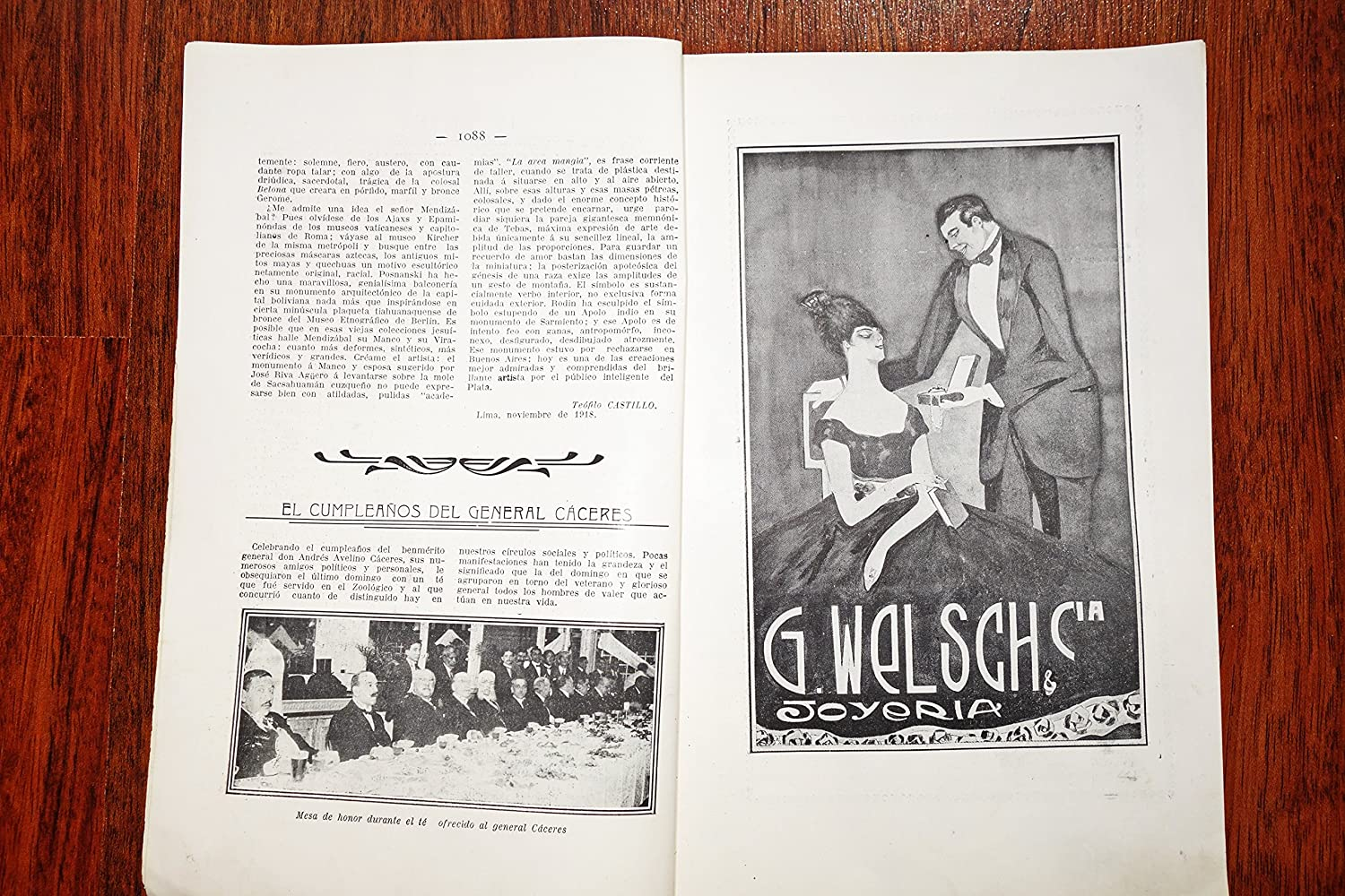 Amazon.com : VARIEDADES * Magazine illustrated Year: 1918 LIMA PERU SPANISH Revista RARE NOV : Everything Else