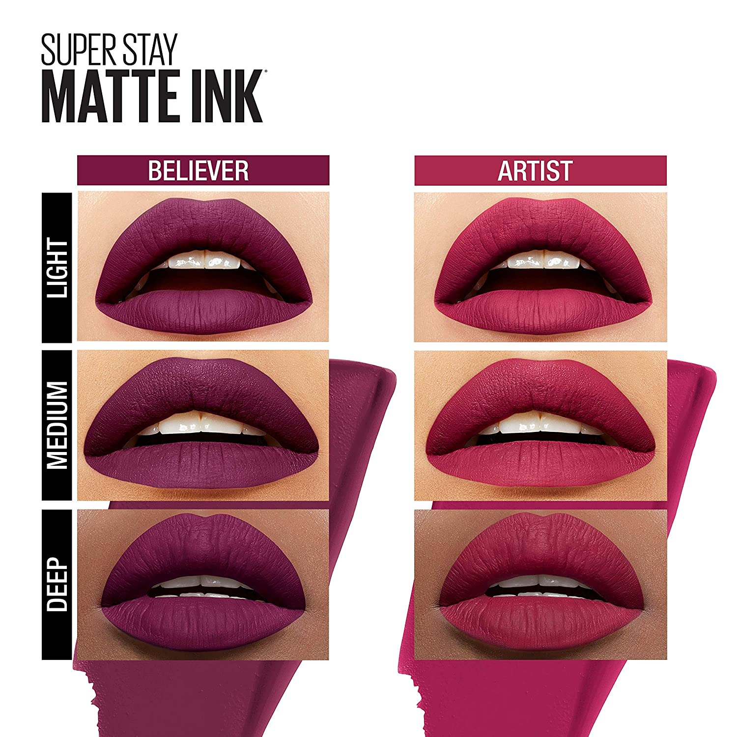 Maybelline New York Superstay Matte Ink Liquid Lipstick X Ashley Longshore Kit Artist Believer 2 Count