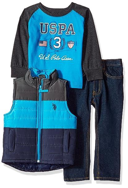 U.S Vest and Pant Set Boys T-Shirt Polo Assn