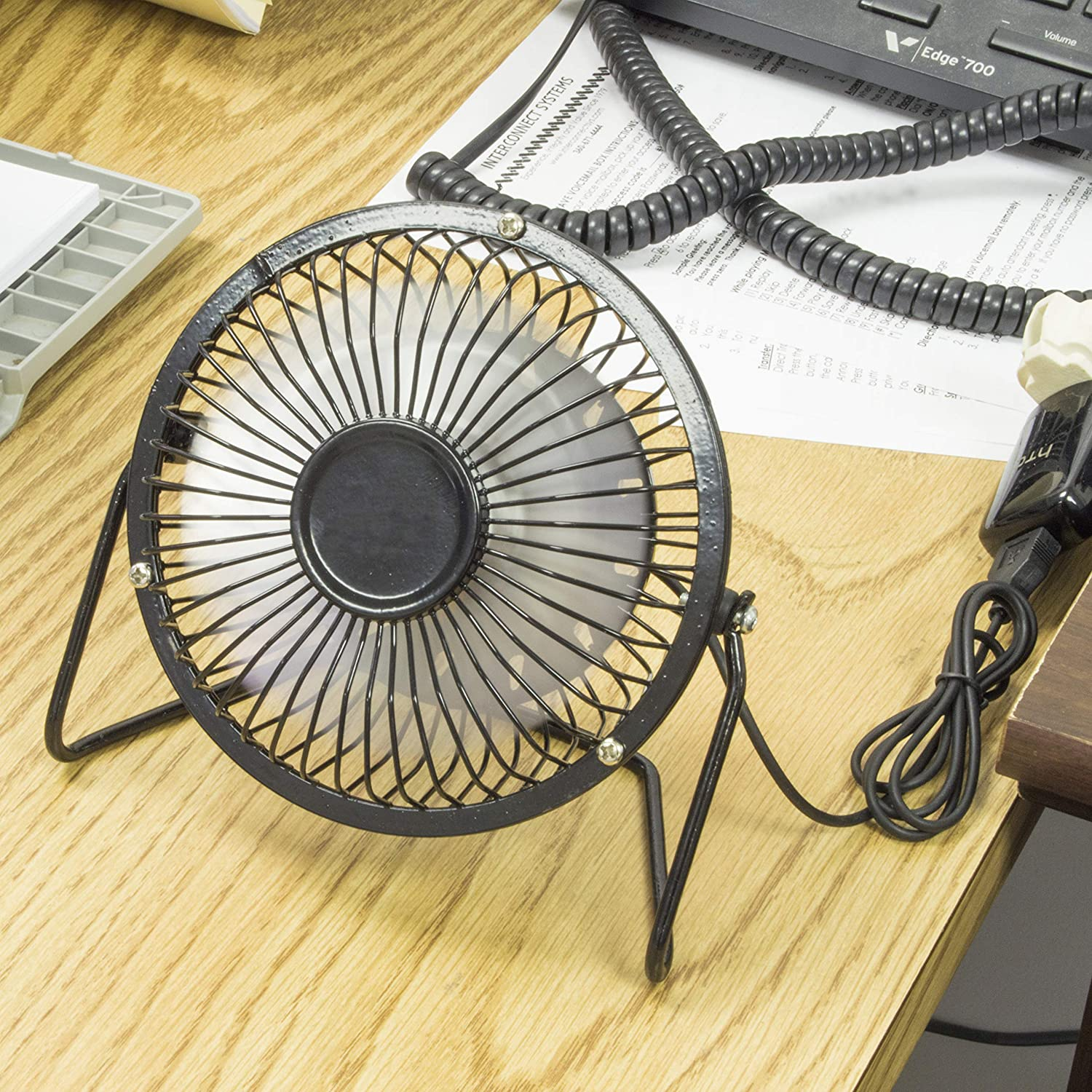 SciencePurchase 4 Angle Adjustable Mini USB Powered Fan Perfect Size for a Desktop