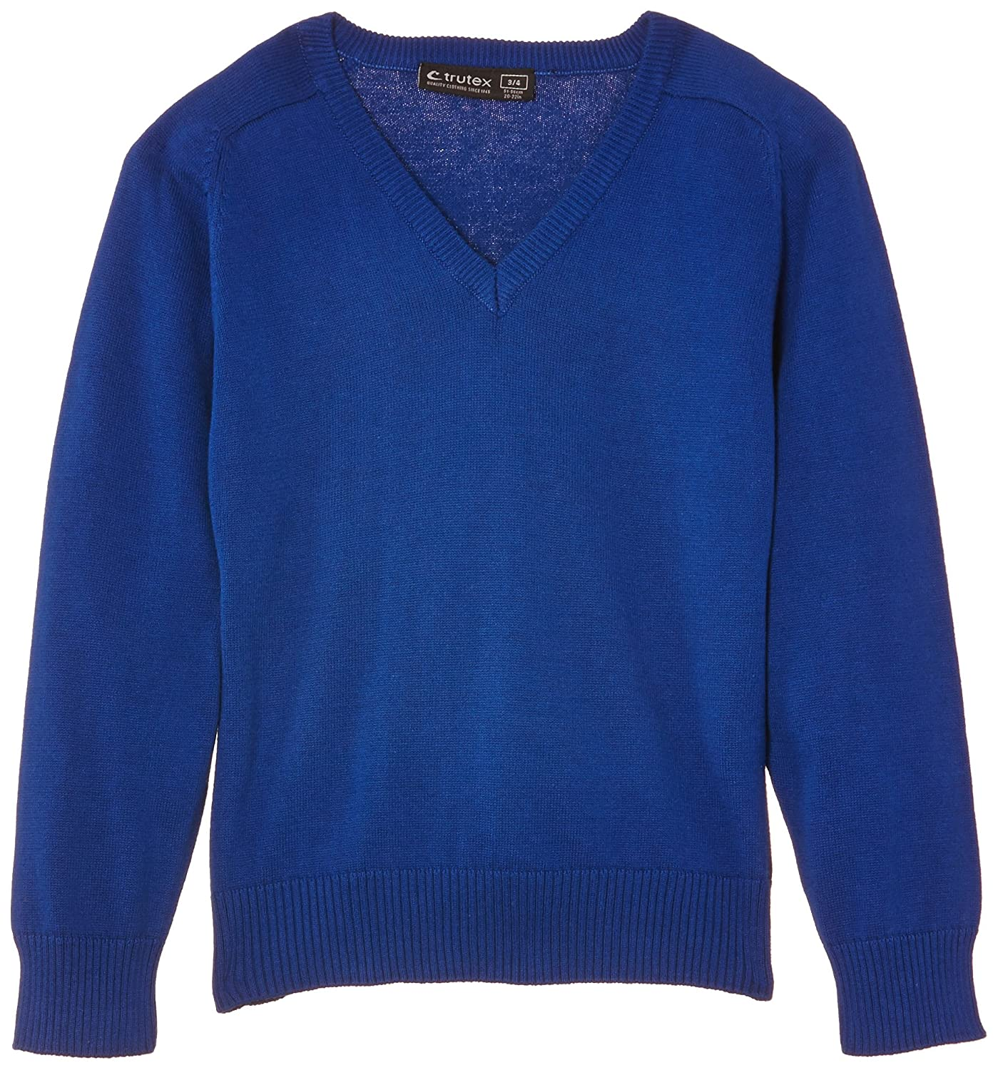 Trutex Boys 100/% Cotton V Neck Jumper