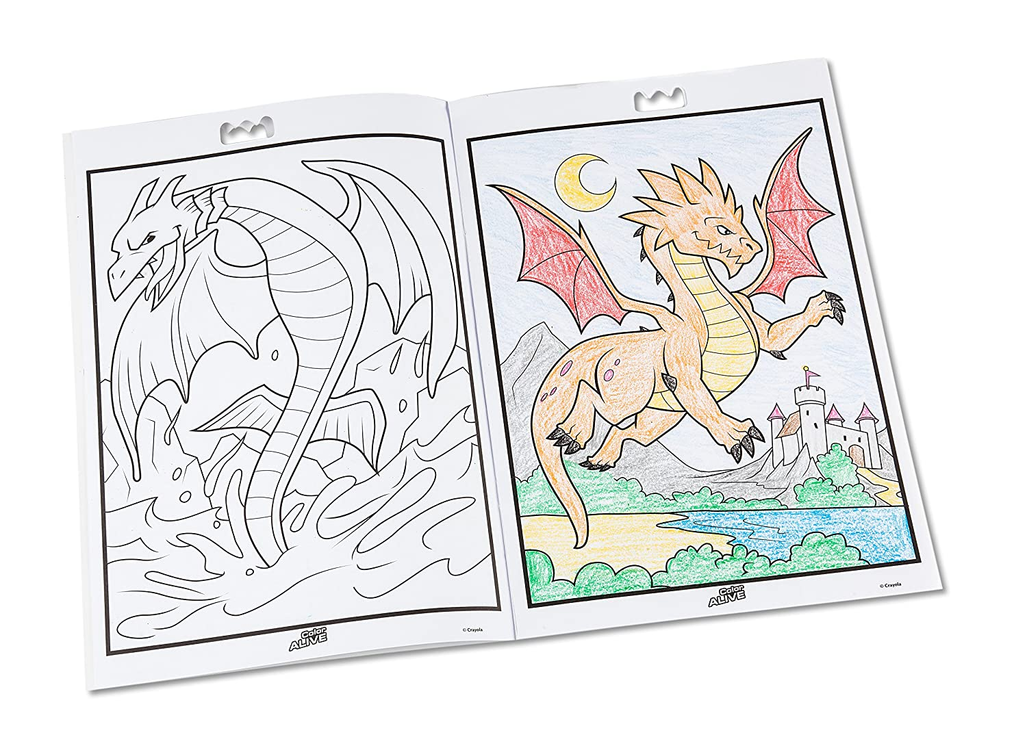 Crayola Color Alive Action Coloring Pages-Mythical Creatures ...