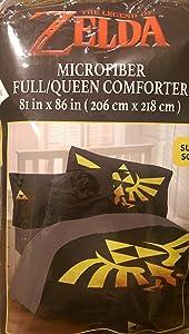 Legend of Zelda Link Triforce Comforter Full Queen Size