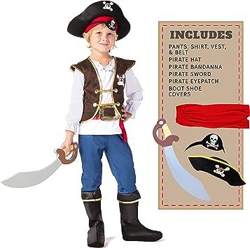 Spooktacular Creations Disfraz de Pirata para Niños (S): Amazon.es ...