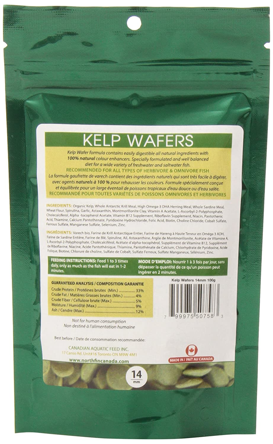 Amazon.com : Northfin Food Kelp Wafers 14Mm Pellet 100 Gram Package : Pet Supplies