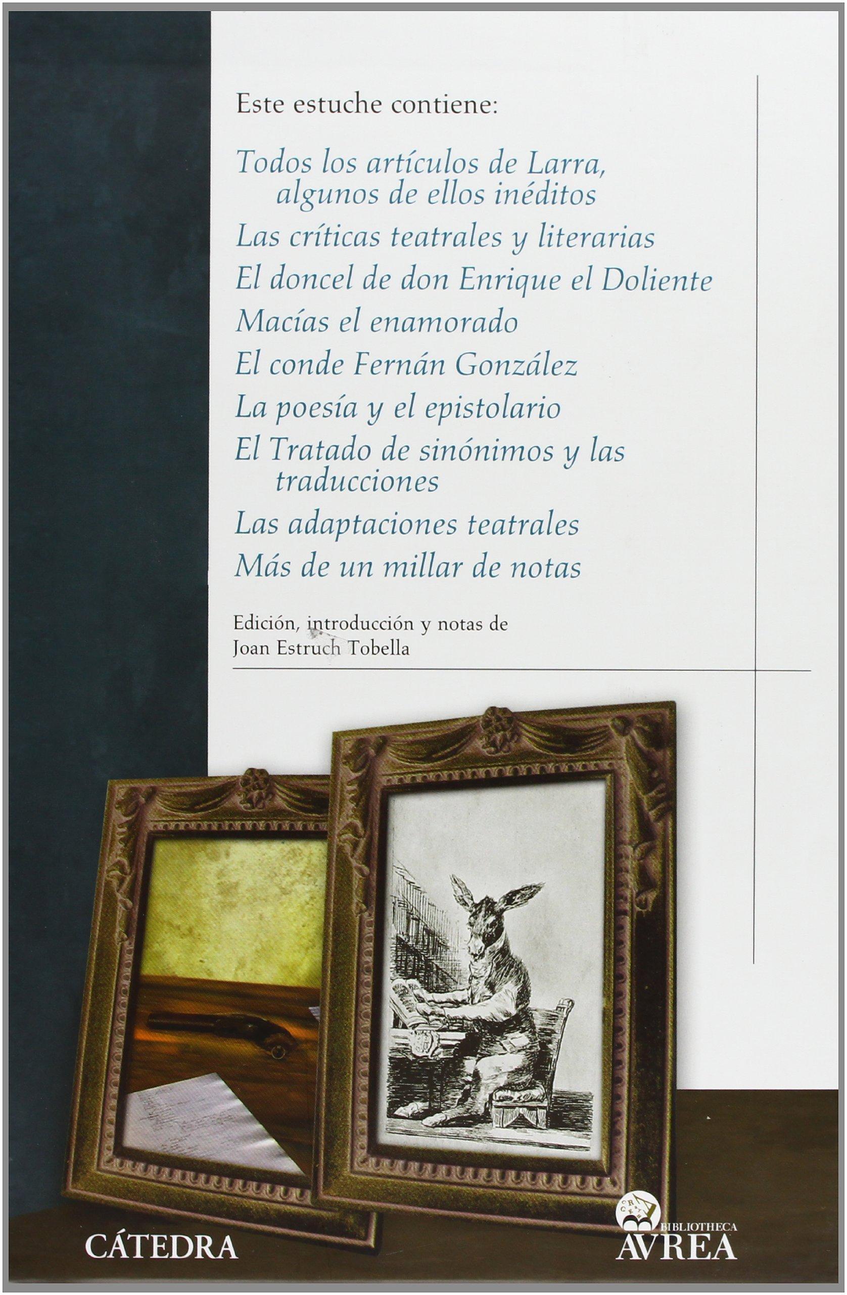 Estuche Larra I y II: 1-2 Bibliotheca Avrea - Estuches Avrea: Amazon.es: Larra, Mariano José de: Libros