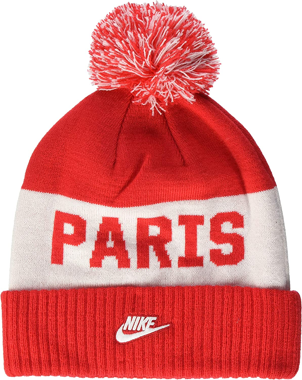 Amazon Com Nike Paris Saint Germain Beanie Universityred White Osfm Clothing