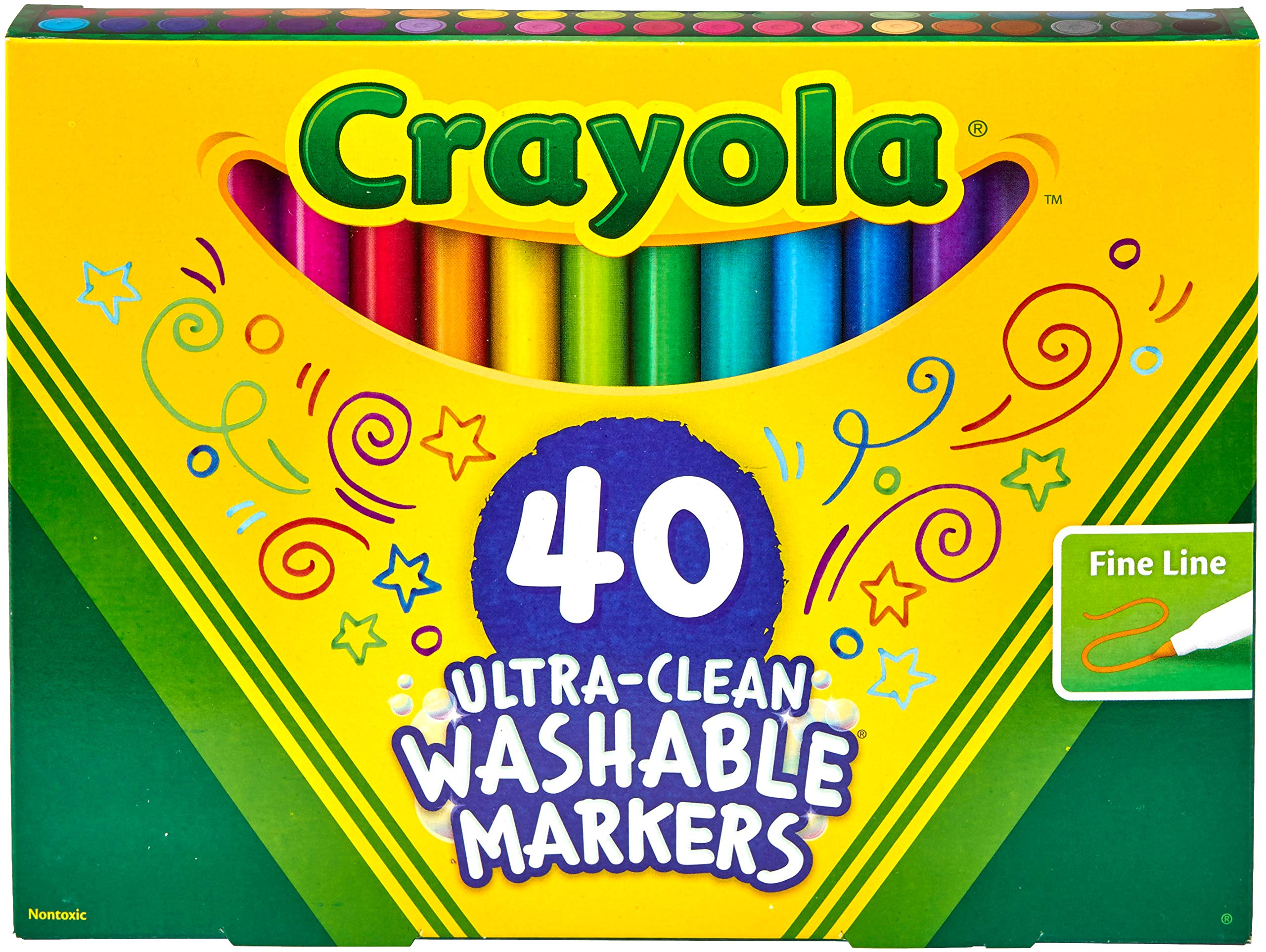 Crayola Ultra Clean Washable Fine Line Markers, Gift
