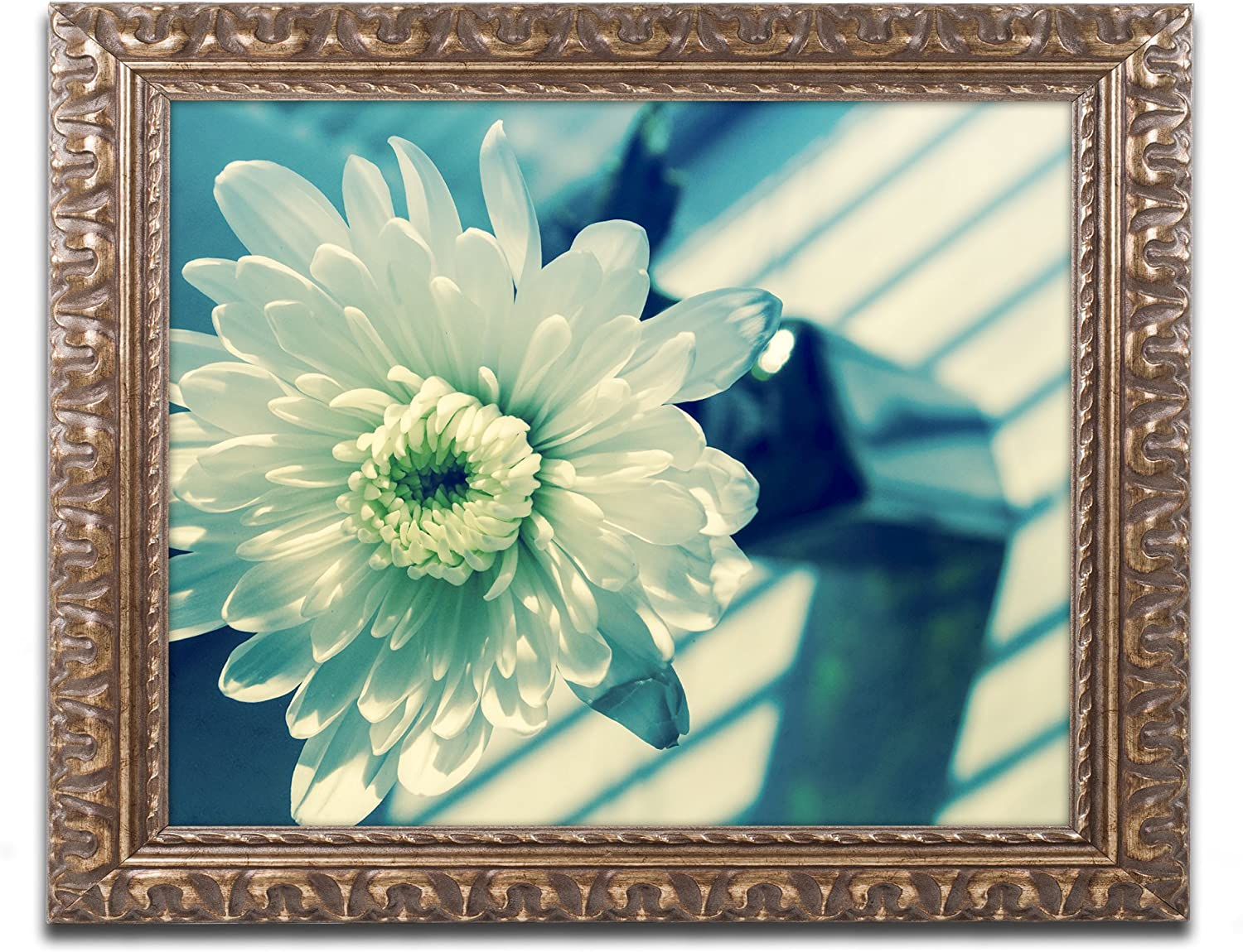Amazon Com Melancholy Flower By Pipa Fine Art Gold Ornate Frame 16x20 Inch Home Kitchen
