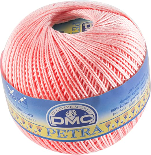 DMC Petra de Hilo, 100% algodón, Rosa, tamaño 5: Amazon.es: Hogar