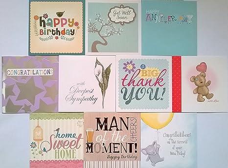 Pack de 10 tarjetas de felicitación ocasión Mixta ...