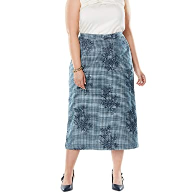 3af464bbdc Jessica London Women's Plus Size Wool-Blend Midi Skirt at Amazon Women's  Clothing store: