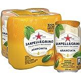 San Pellegrino Aranciata Can, 330ml, (Pack of 4)
