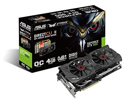 Asus STRIX-GTX980-DC2OC-4GD5 - Tarjeta gráfica de 4 GB GDDR5 (nVIDIA GeForce GTX 980, PCI Express 3.0, 7010 MHz, HDMI)
