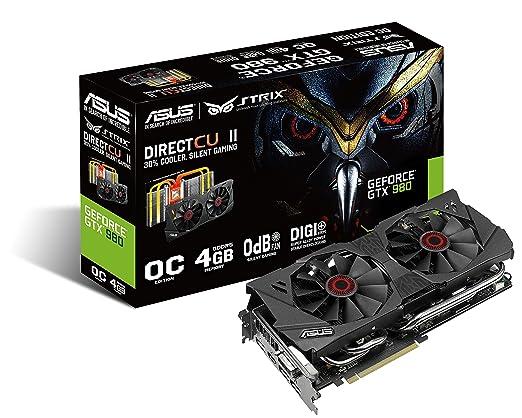 53 opinioni per Asus GeForce GTX 980 STRIX-GTX980-DC2OC-4GD5 4GB GDDR5, Nero