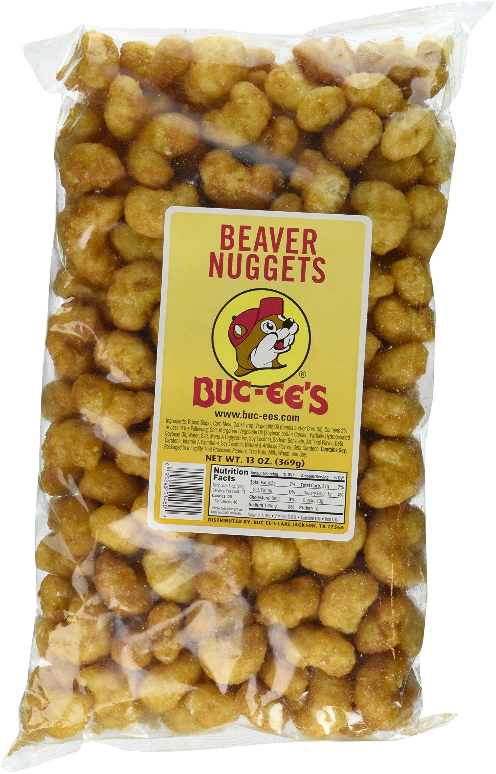 Buc-ees Beaver Nuggets Sweet Corn Puff Snacks Texas Bucees (Pack of 2 Bags)