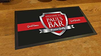 Pub Beer Top Add Your Name Personalised Cocktail Bar Mat // Runner
