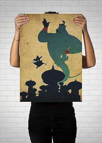 Aladdin Poster // Vintage Disney Movie Posters // Walt Disney Poster // Aladdin & Aladdin Poster // Vintage Disney Movie Posters // Walt Disney Poster ...
