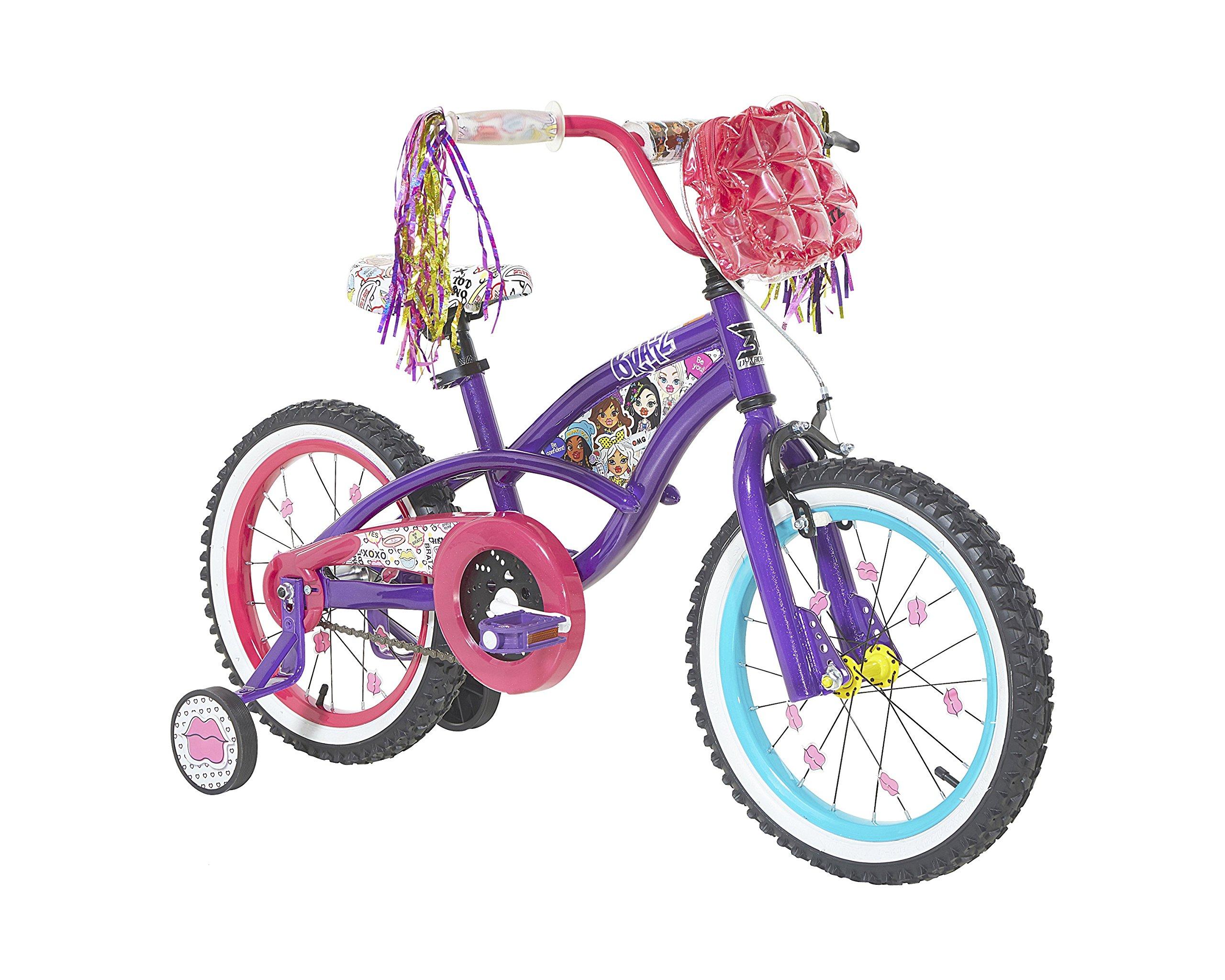 Bratz Girls Dynacraft Bike, Purple/Pink, 16''