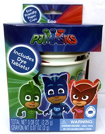 PJ Mask Easter Egg Dye Decorating Kit with Eco Friendly Paper Dipping Cups