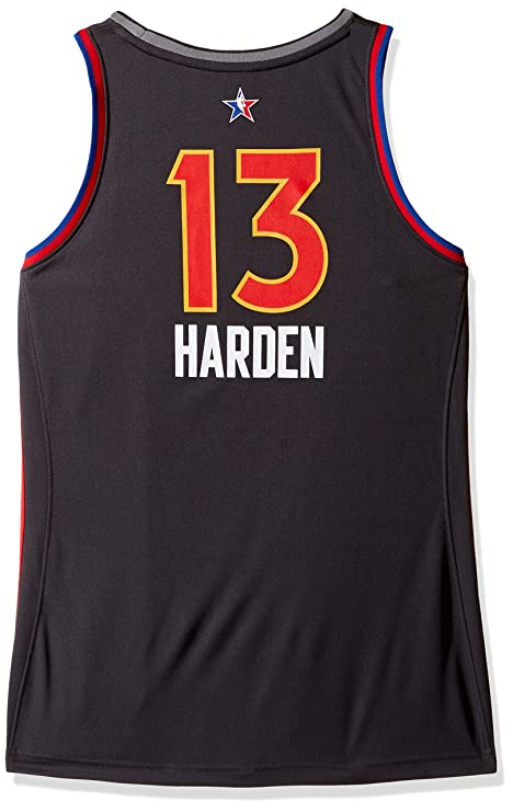 super popular 75bcc 64853 adidas James Harden Houston Rockets NBA Women's Black 2017 All Star West  Replica Jersey