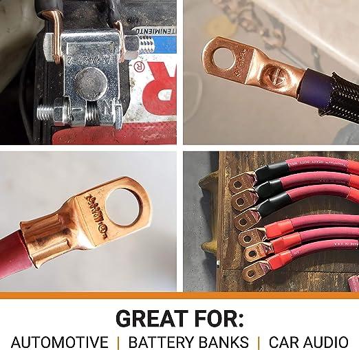140pcs Cuivre Câble Anneau Terminal Lug Sc Batterie Soudure Or Connecteur Kit