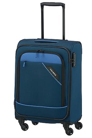 4f81d24bf Travelite Derby 4-RAD Trolley S, Blau, 87547-20 Equipaje de Mano, 55 cm, 41  Liters, Azul (Blau): Amazon.es: Equipaje