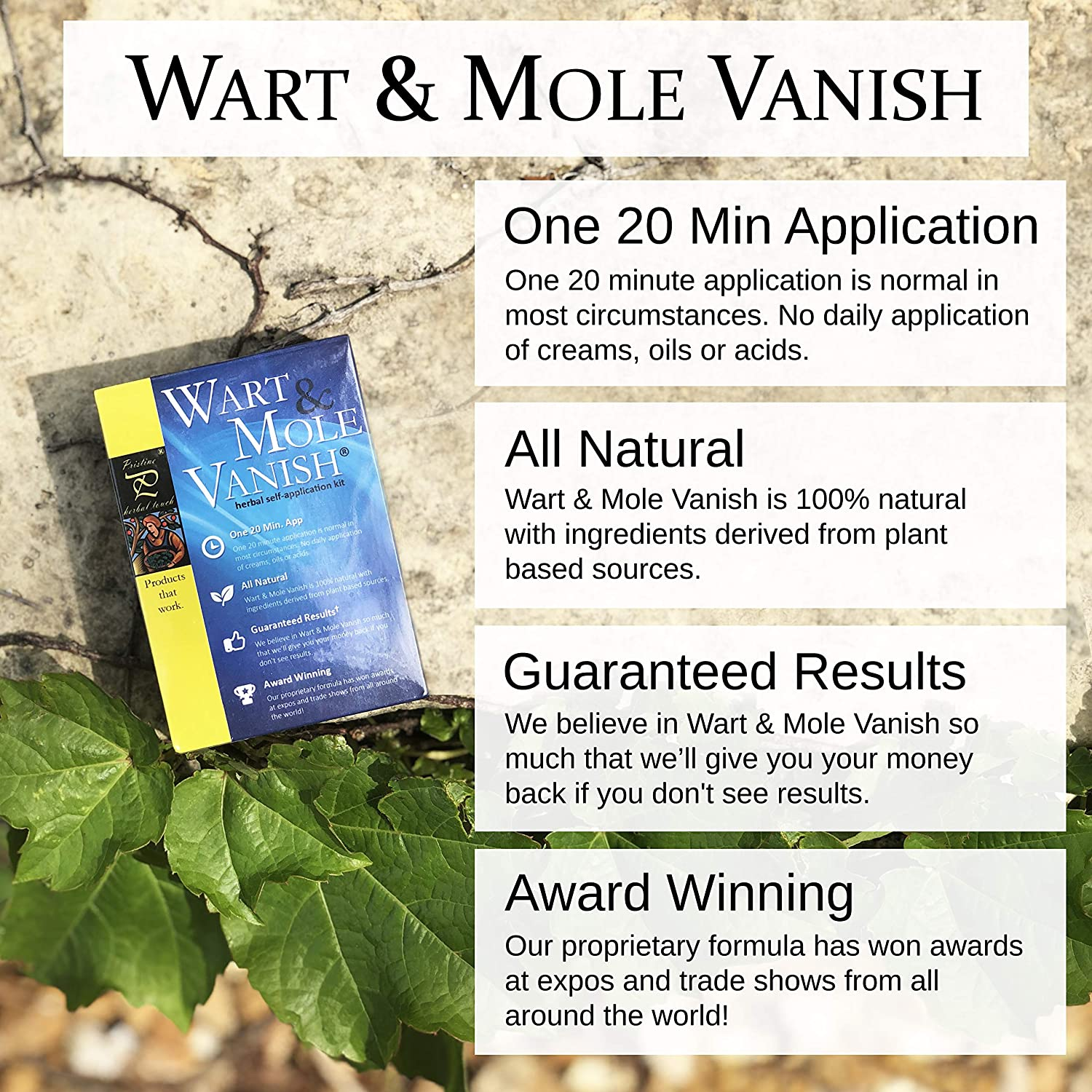 Pristine Herbal Touch - All Natural Mole and Skin Tag Remover (Fast  Results, 20 Minute