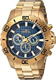 Invicta Men's 'Pro Diver' Quartz Stainless Steel Casual Watch, Color:Gold-Toned (Model: 22544)