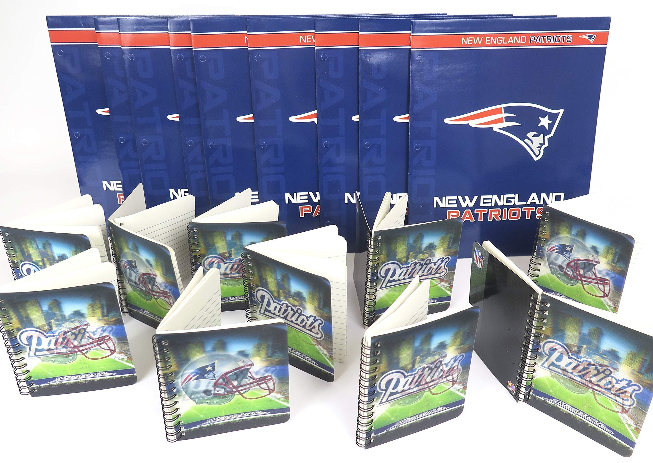 New England Patriots School Supplies set, 10 Memo Pads and 10 Folder.