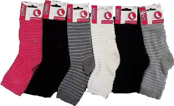 359cd27740f Casa Socks Chaussettes chaussons femme cocooning ultra confort - Modèle  photo selon arrivage
