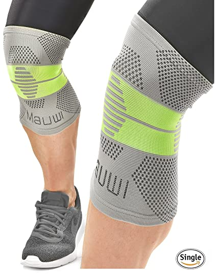 eece8b8358 Mauwi Compression Knee Sleeve. ACL Knee Brace for Men & Women. Knee Support  for Running, CrossFit, Basketball, Weightlifting, Sports.